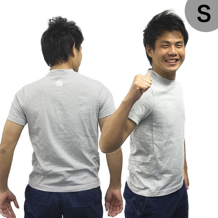 UPBK サイドポケットTシャツ グレー Sサイズ_0