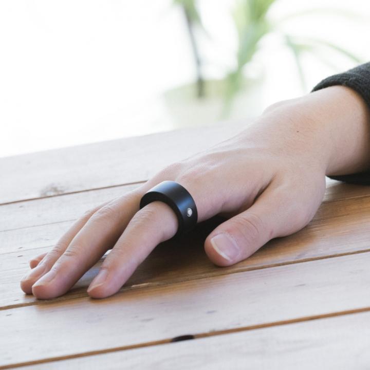 指輪型ウェアラブルデバイス Ring Zero Sサイズ ブラック_0