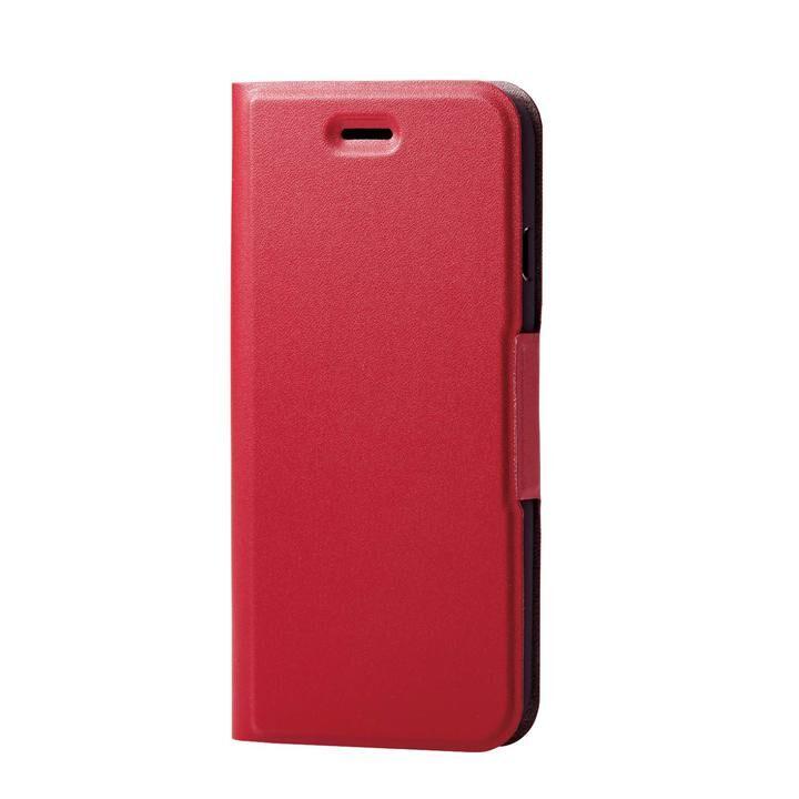 iPhone8/7/6s/6 ケース ソフトレザーケース 薄型 磁石付 レッド iPhone SE 第2世代/8/7_0