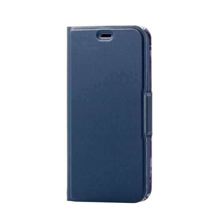 iPhone8/7/6s/6 ケース ソフトレザーケース 薄型 女子向 磁石付 ネイビー iPhone SE 第2世代/8/7_0