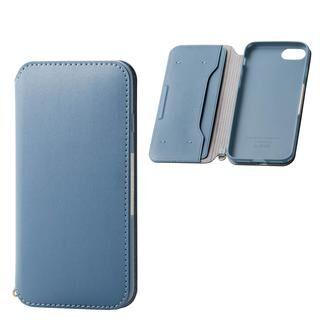 iPhone SE 第2世代 ケース ソフトレザーケース 磁石付 ブルー iPhone SE 第2世代/8/7