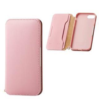 iPhone SE 第2世代 ケース ソフトレザーケース 磁石付 ピンク iPhone SE 第2世代/8/7