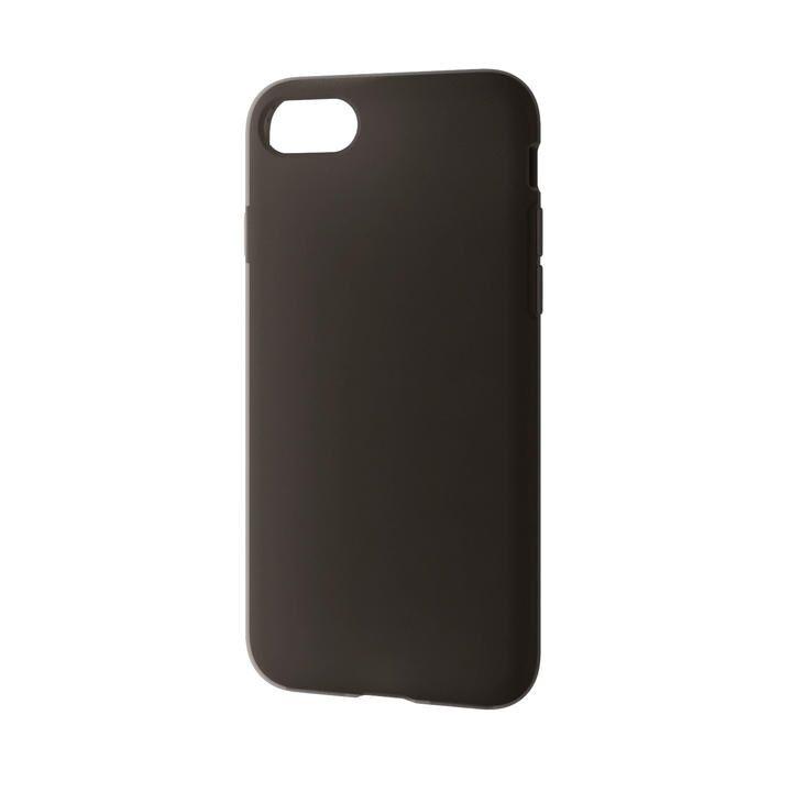 iPhone8/7/6s/6 ケース シリコンケース ブラック iPhone SE 第2世代/8/7_0