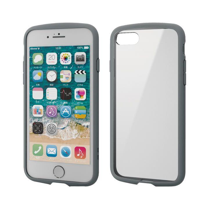 iPhone8/7/6s/6 ケース TOUGH SLIM LITE フレームカラー グレー iPhone SE 第2世代/8/7_0