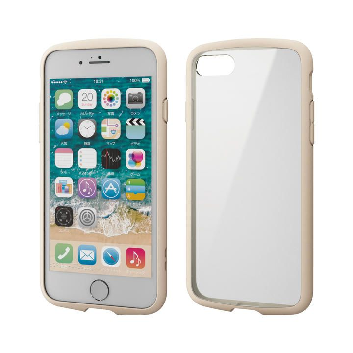 iPhone8/7/6s/6 ケース TOUGH SLIM LITE フレームカラー アイボリー iPhone SE 第2世代/8/7_0