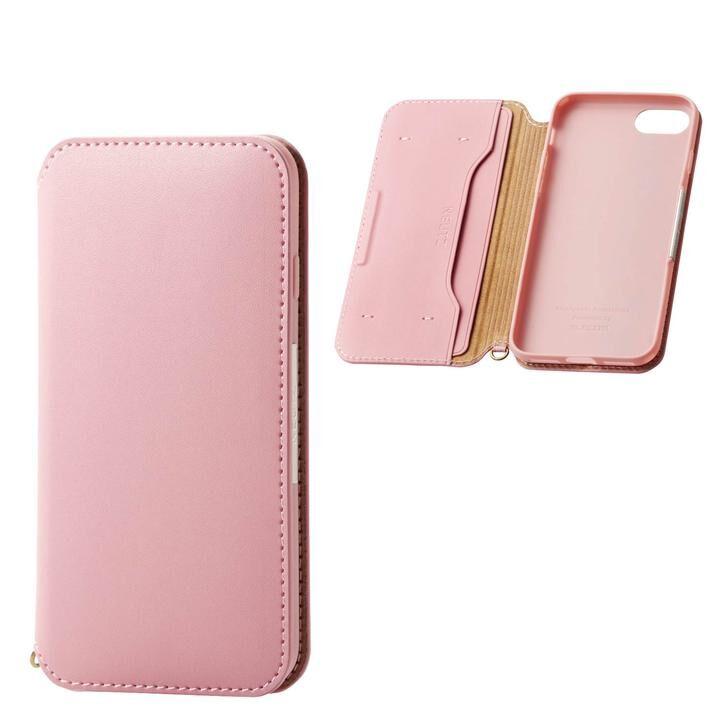 iPhone8/7/6s/6 ケース ソフトレザーケース 磁石付 ピンク iPhone SE 第2世代/8/7_0