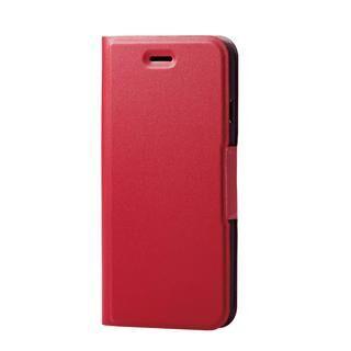 iPhone SE 第2世代 ケース ソフトレザーケース 薄型 磁石付 レッド iPhone SE 第2世代/8/7