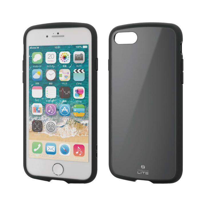 iPhone8/7/6s/6 ケース TOUGH SLIM LITE ブラック iPhone SE 第2世代/8/7_0