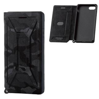 iPhone SE 第2世代 ケース ZERO SHOCK フラップ カモフラ(ブラック) iPhone SE 第2世代/8/7