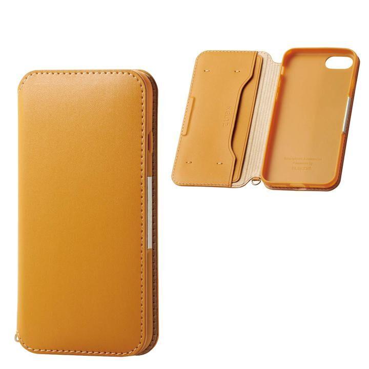iPhone8/7/6s/6 ケース ソフトレザーケース 磁石付 キャメル iPhone SE 第2世代/8/7_0