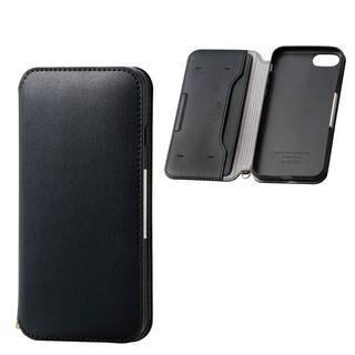 iPhone SE 第2世代 ケース ソフトレザーケース 磁石付 ブラック iPhone SE 第2世代/8/7