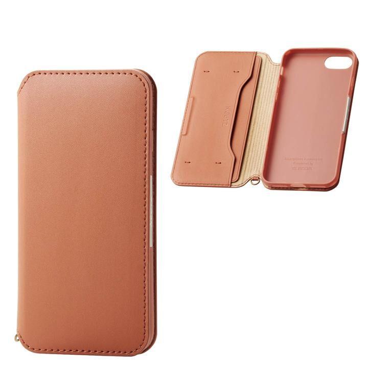iPhone8/7/6s/6 ケース ソフトレザーケース 磁石付 ブラウン iPhone SE 第2世代/8/7_0
