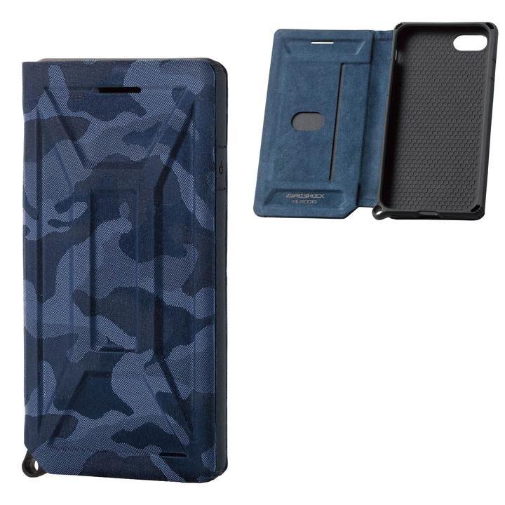 iPhone8/7/6s/6 ケース ZERO SHOCK フラップ カモフラ(ネイビー) iPhone SE 第2世代/8/7_0