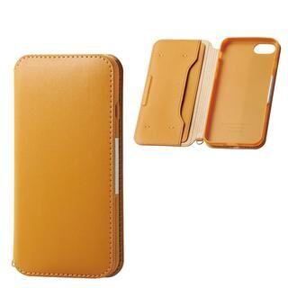 iPhone SE 第2世代 ケース ソフトレザーケース 磁石付 キャメル iPhone SE 第2世代/8/7