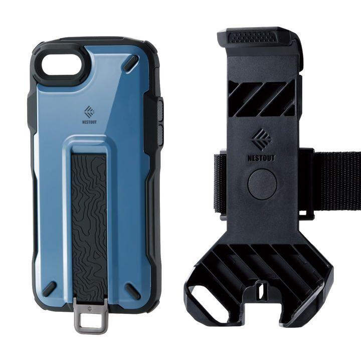 iPhone8/7/6s/6 ケース NESTOUT Trekking スモーキーブルー iPhone SE 第2世代/8/7_0