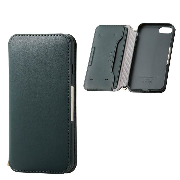 iPhone8/7/6s/6 ケース ソフトレザーケース 磁石付 グリーン iPhone SE 第2世代/8/7_0