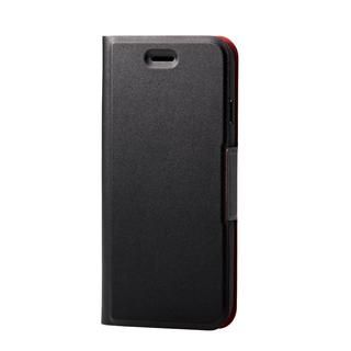 iPhone SE 第2世代 ケース ソフトレザーケース 薄型 磁石付 ブラック iPhone SE 第2世代/8/7