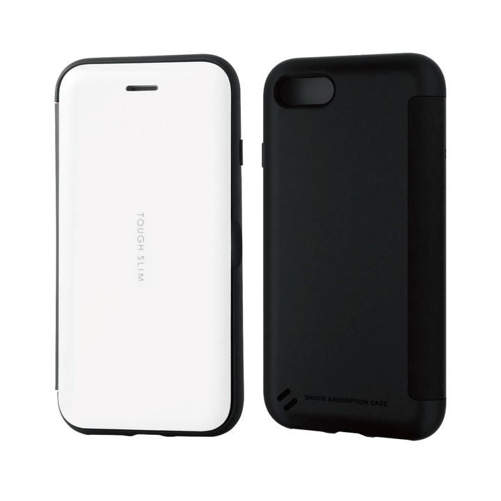 iPhone8/7/6s/6 ケース TOUGH SLIM シェルフラップ ホワイト iPhone SE 第2世代/8/7_0