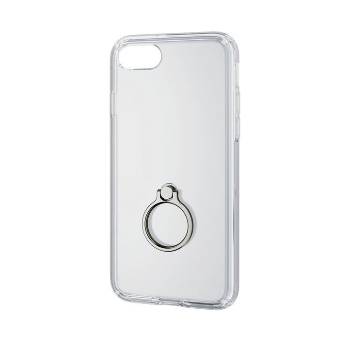iPhone8/7/6s/6 ケース ハイブリッドケース リング付 シルバー iPhone SE 第2世代/8/7_0