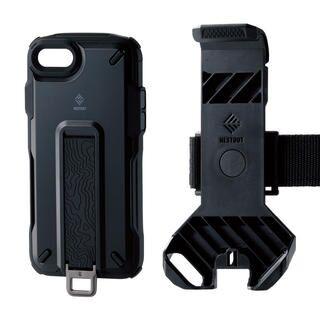 iPhone SE 第2世代 ケース NESTOUT Trekking ブラック iPhone SE 第2世代/8/7