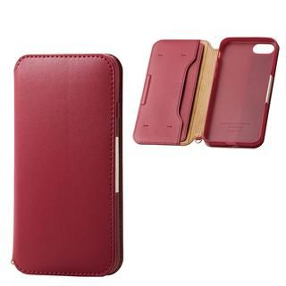 iPhone SE 第2世代 ケース ソフトレザーケース 磁石付 レッド iPhone SE 第2世代/8/7