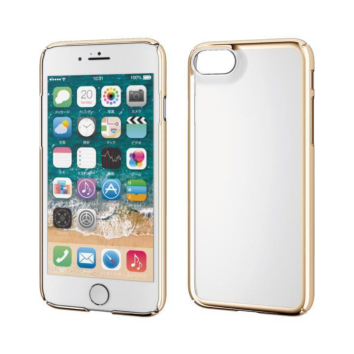 iPhone8/7/6s/6 ケース ハードケース 極み サイドメッキ ゴールド iPhone SE 第2世代/8/7_0