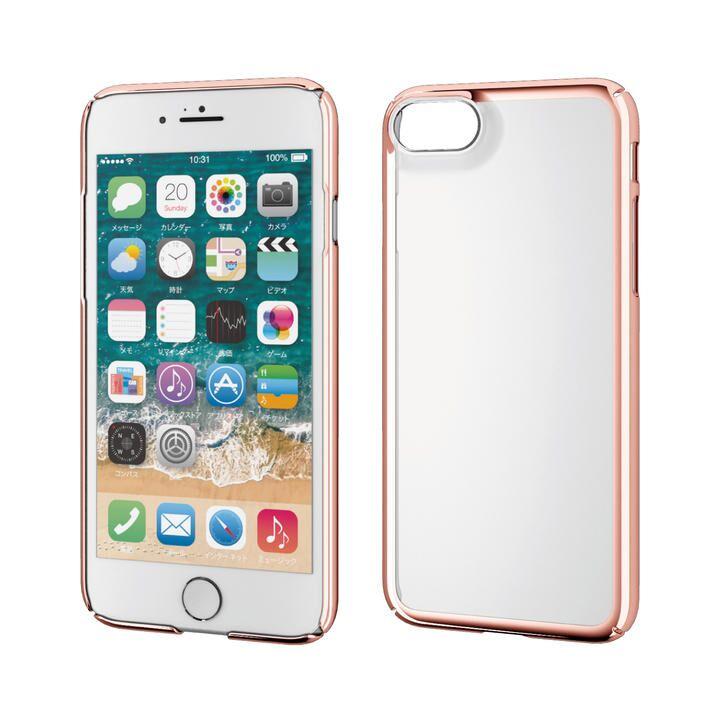 iPhone8/7/6s/6 ケース ハードケース 極み サイドメッキ ローズゴールド iPhone SE 第2世代/8/7_0