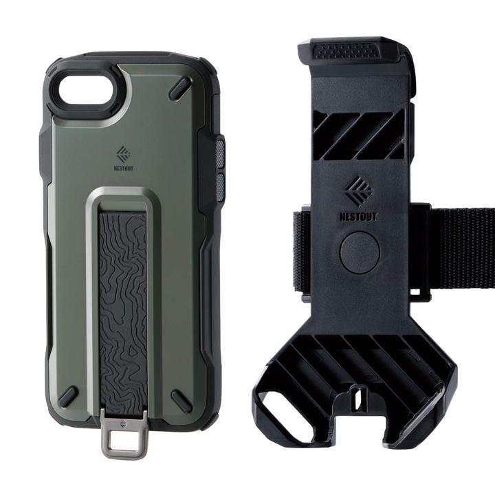 iPhone8/7/6s/6 ケース NESTOUT Trekking オリーブ iPhone SE 第2世代/8/7_0