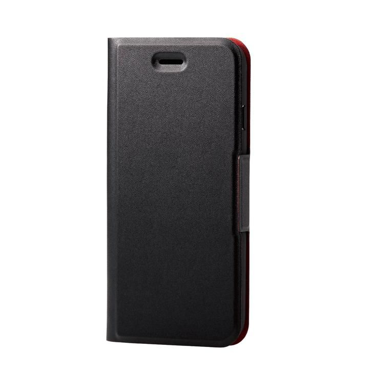 iPhone8/7/6s/6 ケース ソフトレザーケース 薄型 磁石付 ブラック iPhone SE 第2世代/8/7_0