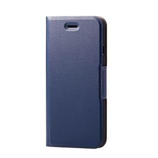iPhone SE 第2世代 ケース ソフトレザーケース 薄型 磁石付 ネイビー iPhone SE 第2世代/8/7