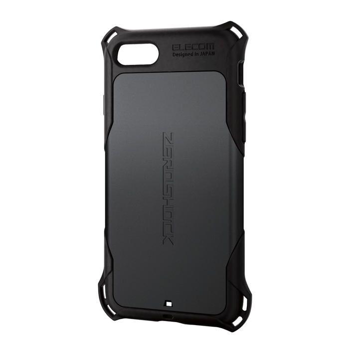 iPhone8/7/6s/6 ケース ZERO SHOCK スタンダード ブラック iPhone SE 第2世代/8/7_0
