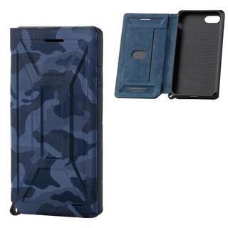 iPhone SE 第2世代 ケース ZERO SHOCK フラップ カモフラ(ネイビー) iPhone SE 第2世代/8/7