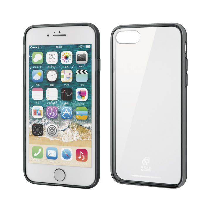 iPhone8/7/6s/6 ケース ハイブリッドケース ガラス スタンダード ブラック iPhone SE 第2世代/8/7_0