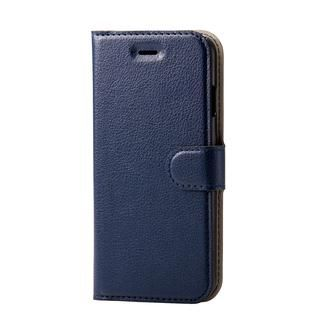 iPhone SE 第2世代 ケース ソフトレザーケース 薄型 磁石付 ステッチ ネイビー iPhone SE 第2世代/8/7