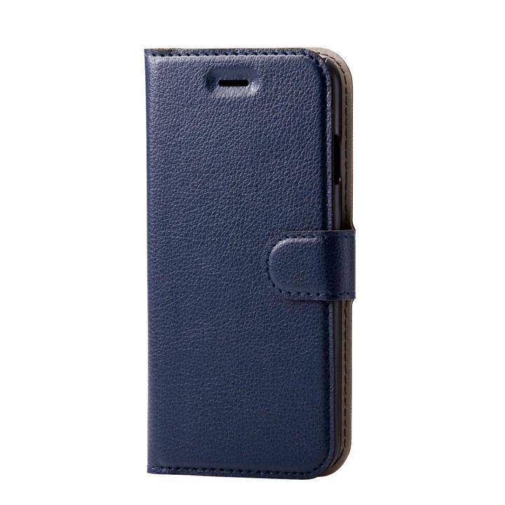 iPhone8/7/6s/6 ケース ソフトレザーケース 薄型 磁石付 ステッチ ネイビー iPhone SE 第2世代/8/7_0
