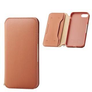 iPhone SE 第2世代 ケース ソフトレザーケース 磁石付 ブラウン iPhone SE 第2世代/8/7