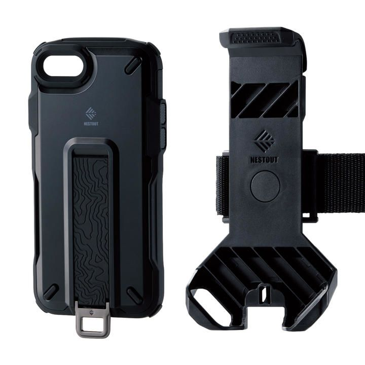 iPhone8/7/6s/6 ケース NESTOUT Trekking ブラック iPhone SE 第2世代/8/7_0