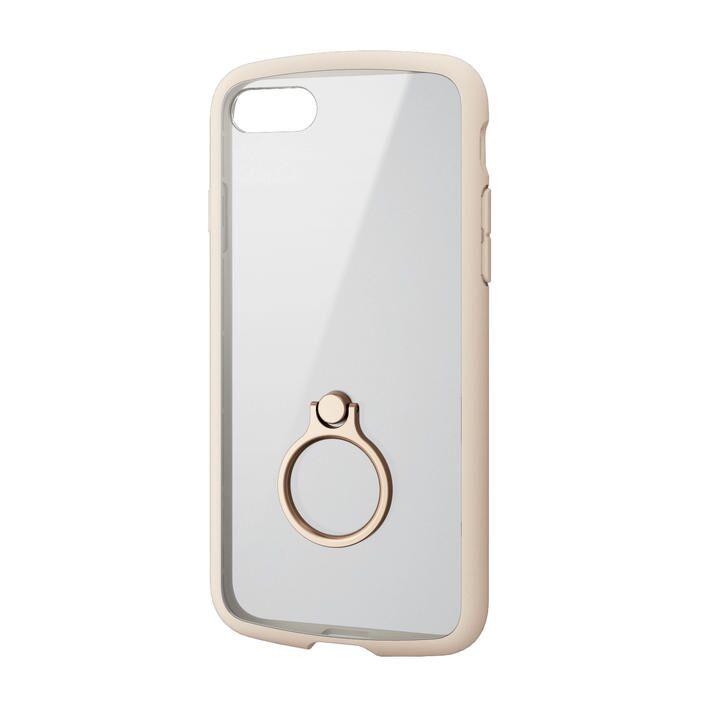 iPhone8/7/6s/6 ケース TOUGH SLIM LITE フレームカラー リング付 アイボリー iPhone SE 第2世代/8/7_0