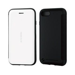 iPhone SE 第2世代 ケース TOUGH SLIM シェルフラップ ホワイト iPhone SE 第2世代/8/7