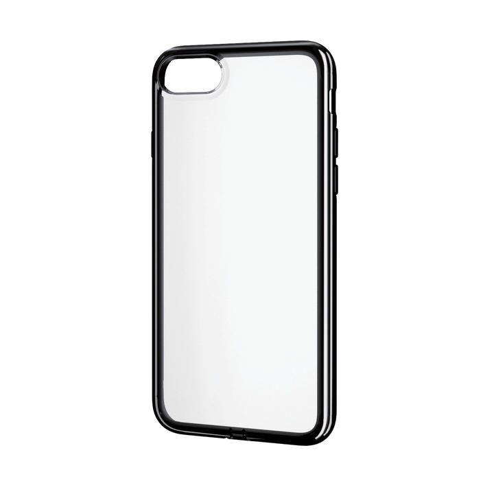 iPhone8/7/6s/6 ケース ソフトケース 極み サイドメッキ ブラック iPhone SE 第2世代/8/7_0