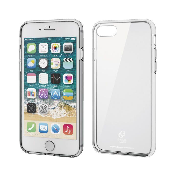 iPhone8/7/6s/6 ケース ハイブリッドケース ガラス スタンダード クリア iPhone SE 第2世代/8/7_0
