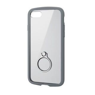 iPhone SE 第2世代 ケース TOUGH SLIM LITE フレームカラー リング付 グレー iPhone SE 第2世代/8/7
