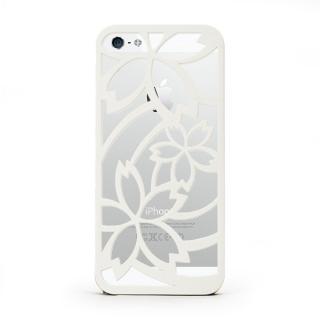 inCUTOUT 切り絵スタイルのiPhone SE/5s/5ケース サクラ ホワイト