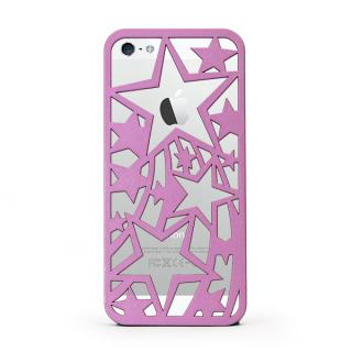【iPhone SE/5s/5ケース】inCUTOUT 切り絵スタイルのiPhone SE/5s/5ケース スター ラベンダー