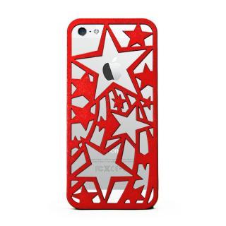 【iPhone SE/5s/5ケース】inCUTOUT 切り絵スタイルのiPhone SE/5s/5ケース スター レッド