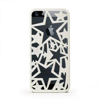 【iPhone SE/5s/5ケース】inCUTOUT 切り絵スタイルのiPhone SE/5s/5ケース スター ホワイト