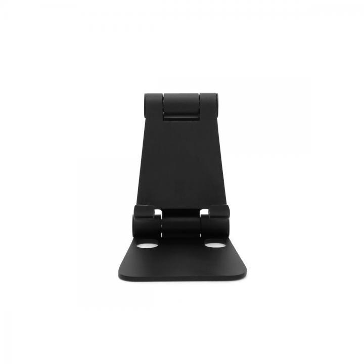 コンパクト&自由な角度 持ち運びに便利な折りたためる小型スマホスタンド mini DOUBLE SWING STAND BY ME ブラック【10月上旬】_0