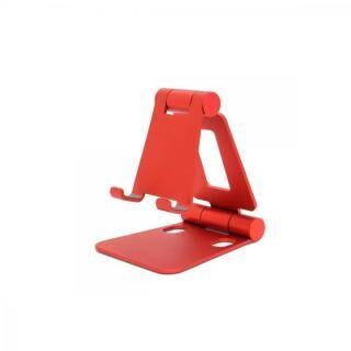 コンパクト&自由な角度 持ち運びに便利な折りたためる小型スマホスタンド mini DOUBLE SWING STAND BY ME レッド