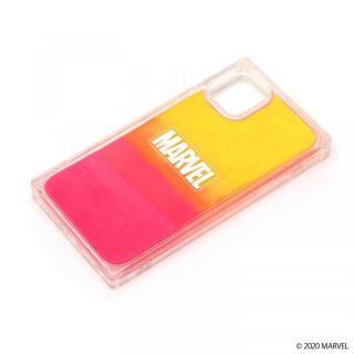 iPhone 11 ケース ネオンサンドケース MARVEL ロゴ/イエロー&ピンク iPhone 11