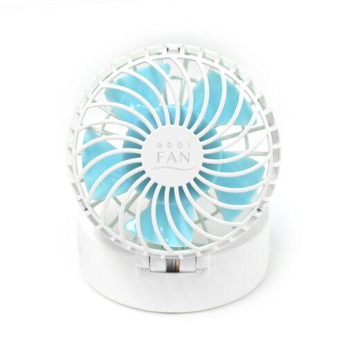 abbi Fan Mirror ハンズフリーポータブル扇風機ミラー付き ホワイト_0
